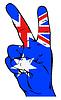 Friedenszeichen mit australische Flagge