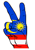 Znak Pokoju banderą Malezji | Stock Vector Graphics