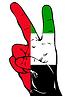 Friedenszeichen Flagge der Vereinigten Arabischen Emirate
