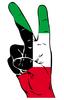 Friedenszeichen des kuwaitischen Flagge