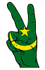 Znak Pokoju z flagą mauretańskim | Stock Vector Graphics
