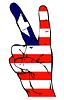 Friedenszeichen der liberianischen Flagge