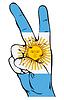 Znak Pokoju z flagą Argentyny | Stock Vector Graphics