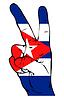 ID 3923161 | Friedenszeichen der kubanischen Flagge | Stock Vektorgrafik | CLIPARTO