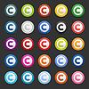 25 Farbe Urheberrechte Symbole