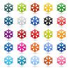 ID 3724602 | Set of 25 color snowflakes | Klipart wektorowy | KLIPARTO