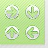 Set glossy Runde Web-Schaltflächen mit Pfeilen