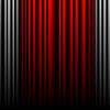 Geschlossen grau und rot Theatervorhängen