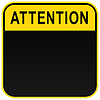 ID 3727939 | Black warning blank attention sign | Klipart wektorowy | KLIPARTO