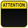 Schwarz Warnung Aufmerksamkeit Zeichen blank