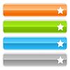 lange Web-Buttons mit Sternzeichen
