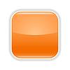Orange glasig leere Web-Schaltfläche