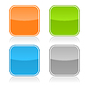 ID 3728558 | Farbe glasig leere Web-Buttons | Stock Vektorgrafik | CLIPARTO