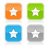 Bunte Web-Buttons mit Sternzeichen