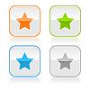 quadratischen Web-Taste mit Sternzeichen