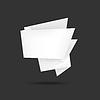 weiße Origami Sprechblase