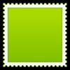 Verfilzte grüne blank Briefmarke