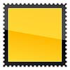 gelbe Warnblinkanlage blank Briefmarke