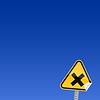Gelbes Warnung-Zeichen des Löschens
