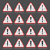 Red Warnung Aufmerksamkeit Zeichen mit Ausrufezeichen