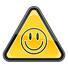 ID 3730369 | Yellow warning sign with smiley face symbol | Klipart wektorowy | KLIPARTO