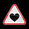 ID 3730409 | Triangular red Straße Warnzeichen mit Herz-Symbol | Stock Vektorgrafik | CLIPARTO