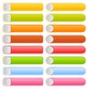 Farbige blank lange Vorlage Web 2.0 Buttons