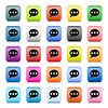 Web-Buttons mit Chat-Zeichen