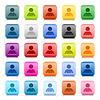 Web-Buttons mit Farbe Benutzerprofil Zeichen
