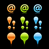 Farbige glänzend Web 2.0 Buttons