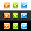 Glossy farbige Web 2.0 Buttons mit Häkchen