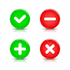Glossy Web 2.0 Buttons mit Validierung Zeichen