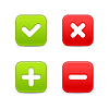 ID 3732729 | Web 2.0 Schaltflächen der Validierung Ikonen | Stock Vektorgrafik | CLIPARTO