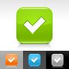 Glossy Web Buttons mit Häkchen Zeichen