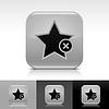 Grau glänzend Web Button mit Sternzeichen