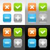 Farbe glossy Web-Schaltflächen mit Validierung Zeichen