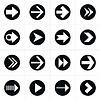 16 Piktogramm Pfeil im Kreis sign set