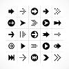 25 Pfeil-Zeichen-Icon-Set