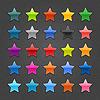 Sternzeichen glänzenden Web-Buttons