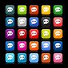 25 glatte satiniert Web 2.0 Buttons mit Chat-Zeichen