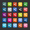 Web 2.0 Buttons mit share Zeichen