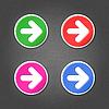 farbigen Pfeil Zeichen runde Symbole