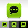 Grün glänzend Web-Buttons mit Chat-Zeichen