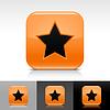 Orange glossy Web Buttons mit Sternzeichen
