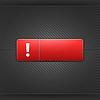 Ausrufezeichen Zeichen auf rotem Rechteck Web-Taste