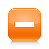 ID 3745158 | Orange glossy web button with minus sign | Klipart wektorowy | KLIPARTO