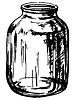 Dose aus Glas | Stock Vektrografik