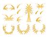 Set-Design-Elemente mit Weizen