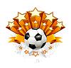 Fussball-Emblem