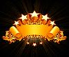 ID 3772909   Retro-Emblem, schwarzer Hintergrund   Stock Vektorgrafik   CLIPARTO